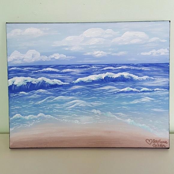 other beach ocean scene acrylic painting poshmark